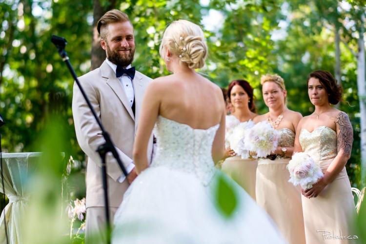 cérémonie de mariage extérieure au chateau lafon taillefer à ste-dorothé