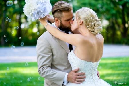 photographe de mariage professionnel au chateau taillerez lafon à ste-dorothé cérémonie extérieure